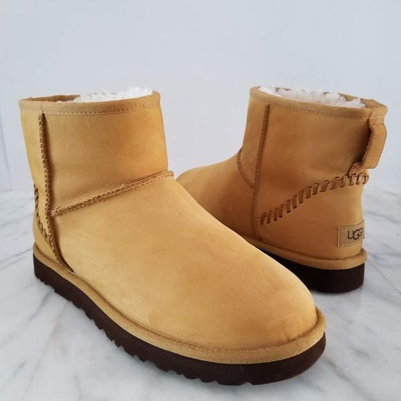 b0c309b8ad4 UGG Men's Classic Mini Deco Wheat Boot Ankle Shoes